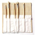 Bambu brush bag, 33x33 cm.