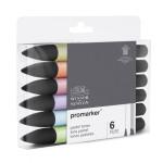Promarker markers Set 6 pastel tones