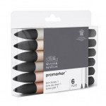 Promarker markers Set 6 skin tones