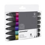 Promarker markers Set 6 rich tones
