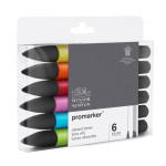 Promarker markers Set 6 vibrant tones