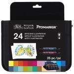 Marker Promarker Winsor & Newton, set 24 units Arts and Illustration