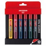 Acrylic markers Amsterdam, set Starter Pack (6 colours)