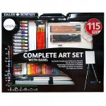 Complet art set with easel Daler Rowney, 115 pieces