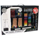 Complet art set with easel Daler Rowney, 163 pieces