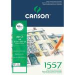 1557 Canson (Glued Pad), 30 s., 180 gr., 21x29.7 cm.