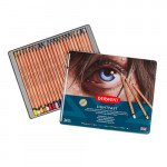 Colour pencils metal box Lightfast Derwent 24 uds.