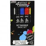 Pebeo 4Artist Oil Marker Basic Set 5 units, 4mm