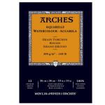 Arches Watercolour 300 gr, 21x29,7 cm, Grain Torchon, block 12 s.