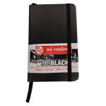 ArtCreation NoteBook Black Sheets, 9x14, elastic band, 80 s, 140 gr.