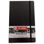 ArtCreation NoteBook Black Sheets, 13x21, elastic band, 80 s, 140 gr.