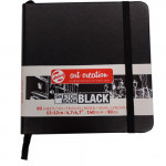 ArtCreation NoteBook Black Sheets, 12x12, elastic band, 80 s, 140 gr.