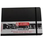 ArtCreation NoteBook Black Sheets, 21x14,8, elastic band, 80 s, 140 gr.