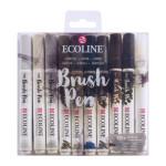 Estuche Acuarela ROTULADOR Ecoline Brush Pen 10 ud SET GRISES