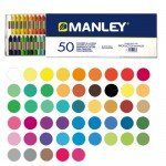 Manley wax crayons, 50 colours