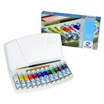 Box 12 watercolors tubes Van Gogh and brush