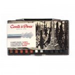 Box Carres Conte 12 assorted sketchig crayons