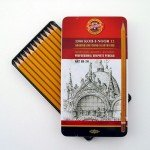 Assorted drawing metal box Koh-I-Noor 12 p. -ART-