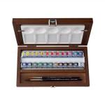 Caja acuarelas de madera Van Gogh, 24 pastillas y accesorios
