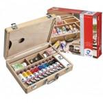 Acrylic Van Gogh, wooden box 10 col.