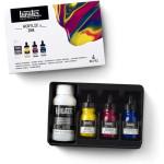 Set Acrylic Inks Liquitex, 3 colors 30 ml.+ Pouring medium 118 ml.