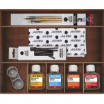 Oil Titan Extra thin, wooden box, 24 colours 20 ml.