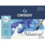 Canson Montval Watercolour 200 gr, 34x32, Cold Pressed, 40 s.