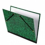 Drawing folder 37x52 cm., Green wiht rubber bands