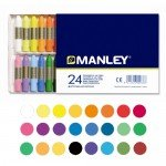 Manley wax crayons, 24 colours