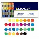 Manley wax crayons, 30 colours