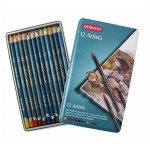 Colour pencils Metal box Artists Derwent 12 uds.