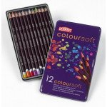 Colour pencils Metal box Coloursoft Derwent 12 uds.