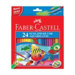Estuche cartón 24 lapices acuarelables Faber Castell