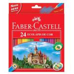 Estuche cartón 24 lapices color Faber Castell