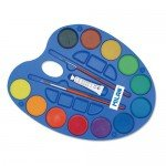 Box Milan Watercolour 12 colours 45 mm., 1 white tube & 2 brushes
