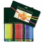 Colour Pencils metal box POLYCHROMO, Faber Castell (60 colours)
