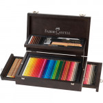 "Wooden case ""Art & Graphic Collection"" 125 pieces Faber Castell"