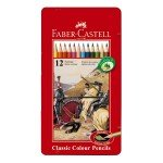 Caja metal lapices color Faber-Castell 12 uds. *D*