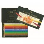 Colour Pencils metal box POLYCHROMO, Faber Castell (12 colours)