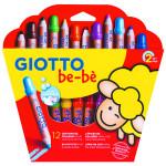 Giotto Be-Bè: Set 12 lápices de colores + sacapuntas