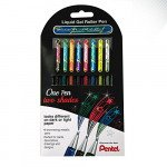 Set 8 rotuladores colores Hybrid tinta de gel Pentel