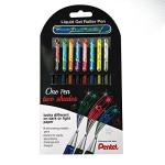 Set 8 rotuladores colores Hybrid tinta de gel Pentel