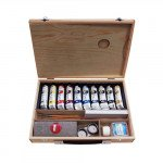Oil Titan Goya wooden box, 10 colours (40 ml.)