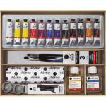 Oil Titan Goya wooden box, 12 colours (20 ml.)