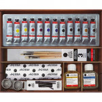 Oil Titan Extra thin, wooden box, 12 colours 20 ml.