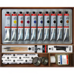Oil Titan Extra thin, wooden box, 10 colours 60 ml.