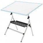 Adjustable semi-professional drawing table with springs and tray, 80x120 cm.