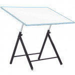 Adjustable student drawing table with rods, 90x130 cm.