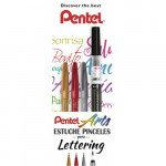 Beginners calligraphy set 4 brushes Pentel