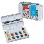 Box 12 watercolors Van Gogh 1/2 godet and brush